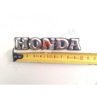 """Наклейка """"Honda"""" об'ємна хром 10 см."""