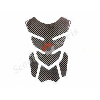 Наклейка карбон на бак мотоцикла силиконовая, объемная, полный набор