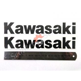 Наклейка Кавасаки, карбон