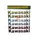 Наклейка Kawasaki, объемная силиконовая