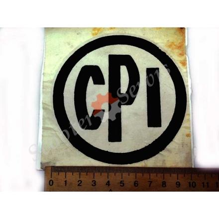 """Наклейка логотип """"CPI"""" кругла"""