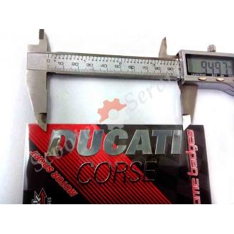 Наклейка логотип Дукати, DUCATI, зеркальная