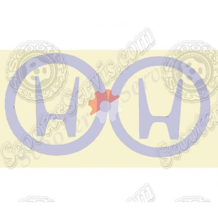 Наклейка, логотип Хонда (светоотражающая)