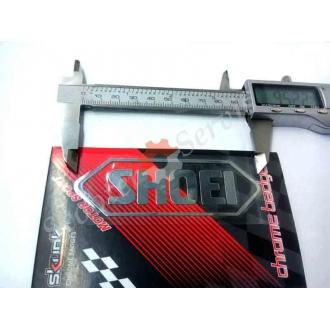 Наклейка логотип Шое, Shoei, зеркальная