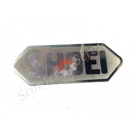 Наклейка логотип ШОЕ, SHOEI, зеркальная сетка