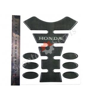 Наклейка на бак мотоцикла, Хонда, карбон, полный набор.