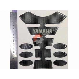 Наклейка на бак мотоцикла, Ямаха, карбон, объёмная, полный набор.