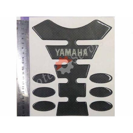 Наклейка на бак мотоцикла, Ямаха, карбон, об'ємна, повний набір.