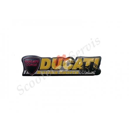 """Наклейка об'ємна алюміній """"Ducati"""""""