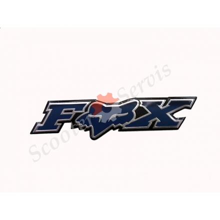 """Наклейка об'ємна алюміній """"Fox"""""""