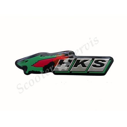 """Наклейка об'ємна алюміній """"HKS"""""""