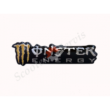 "Наклейка объёмная алюминий ""Monster energy"""