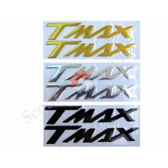 """Наклейка об'ємна, силіконова, логотип Ямаха """"Tmax"""""""