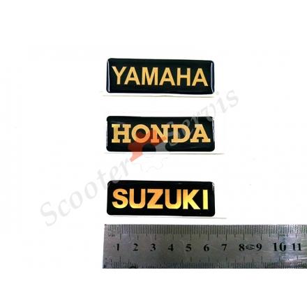 Наклейка об'ємна силіконова Yamaha, Honda, Suzuki
