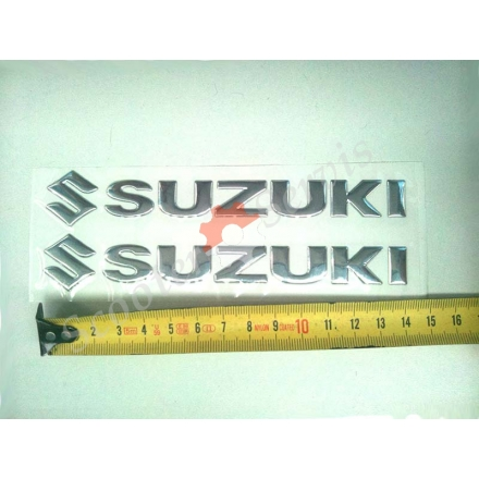 Наклейка Suzuki, об'ємна силіконова, довжина 15 см