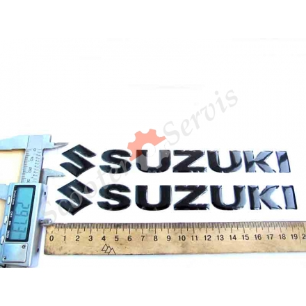 Наклейка Suzuki, об'ємна силіконова, довжина 20 см