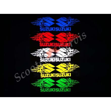 """Наклейка світловідбиваюча логотип """"Сузукі полум'я"""""""