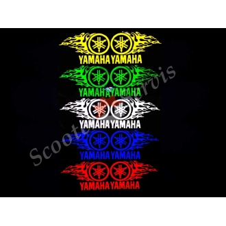 """Наклейка светоотражающая логотип """"Ямаха пламя"""""""
