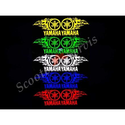 """Наклейка світловідбиваюча логотип """"Ямаха полум'я"""""""