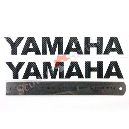 Наклейка Ямаха, карбон