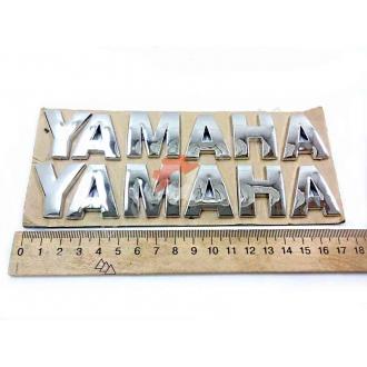 Наклейка Yamaha, объемная, хромированный пластик