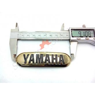 """Наклейка """"Yamaha"""", объемная, полукруглая, золото, хромированный пластик, на бак"""