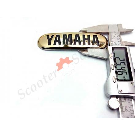 """Наклейка """"Yamaha"""", об'ємна, напівкругла, золото, хромований пластик, на бак"""