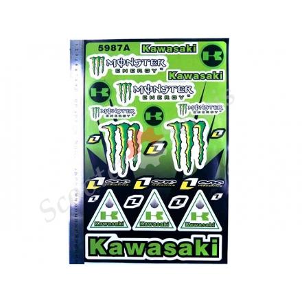 Наклейки великий набір Kawasaki монстр