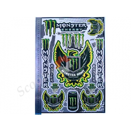 """Наклейки большой набор """" Monster Army"""" 5990D"""