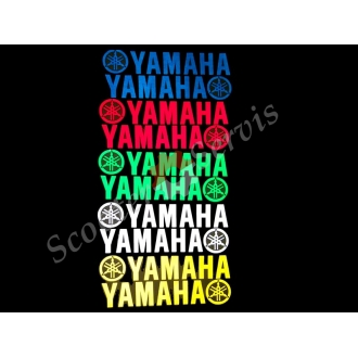 Наклейки логотип Ямаха светоотражающие (комплект 2 шт)