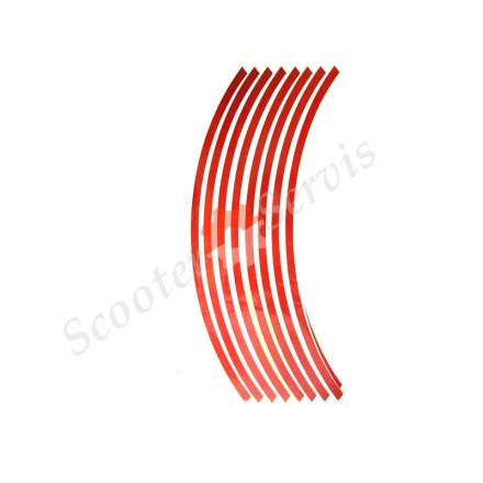 Наклейки на обод колеса светоотражающие 15-19 дюймов (красный)