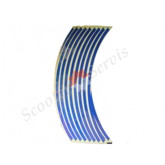 Наклейки на обод колеса светоотражающие 15-19 дюймов (синий)