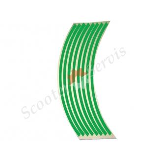 Наклейки на обод колеса светоотражающие 15-19 дюймов (зелёный)