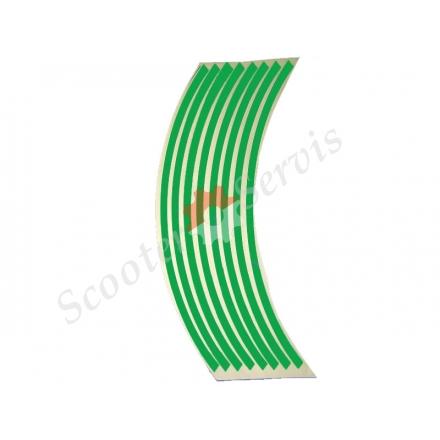 Наклейки на обід колеса світловідбиваючі 15-19 дюймів (зелений)