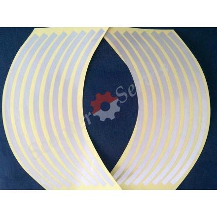 Наклейки светоотражающие на обод, 10-14 дюйм, (серебро)