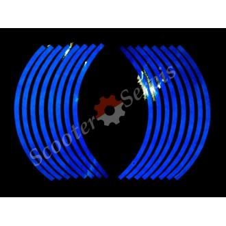 Світловідбиваючі наклейки на обід, 10-13 дюйм, (синій)