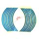 Наклейки светоотражающие на обод, 10-13 дюйм, (синий)