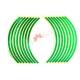 Світловідбиваючі наклейки на обід, 10-14 дюйм, (зелений)