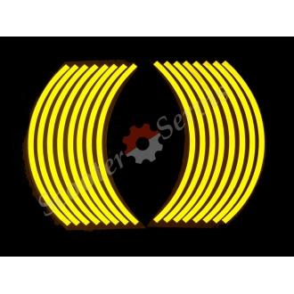 Наклейки светоотражающие на обод, 10-13 дюйм, (золото)