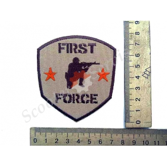 """Термонаклейка """"First Force"""", тканинна нашивка, наклейка на тканину"""