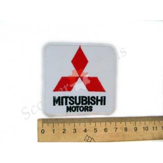 """Термонаклейка """"Mitsubishi"""", тканинна нашивка, наклейка на тканину"""