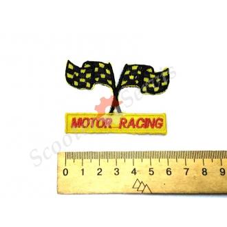 """Термонаклейка """"MOTOR RACING"""", тканинна нашивка, наклейка на тканину."""