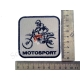 """Термонаклейка """"Motosport"""", тканевая нашивка, наклейка на ткань"""