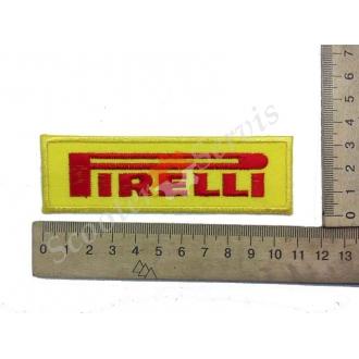 "Термонаклейка ""Pirelli"", тканинна нашивка, наклейка на тканину"