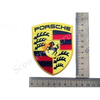 """Термонаклейка """"Porsche"""", тканевая нашивка, наклейка на ткань"""