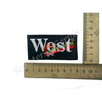"""Термонаклейка """"West"""", тканевая нашивка..."""