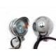 Фары дополнительной подсветки габаритов 35W металлические хромированные, чоппер, мотоцикл, ретро скутер