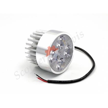 Лампа додаткове світло світлодіодна Led 4 діода 12-80V-12W діаметр 53мм