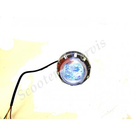 Лінза ближнього світла LED, з підсвічуванням (синій з червоним) 12V