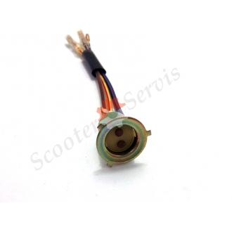 Патрон (цоколь) для лампы головного света три уса тип Хонда, Сузуки, Ямаха